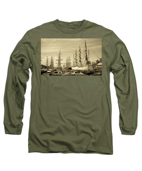 Operation Sail 1992 Brooklyn Long Sleeve T-Shirt by John Schneider