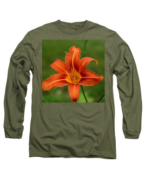 Orange Day Lily No.2 Long Sleeve T-Shirt