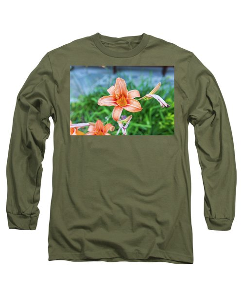 Orange Daylily Long Sleeve T-Shirt