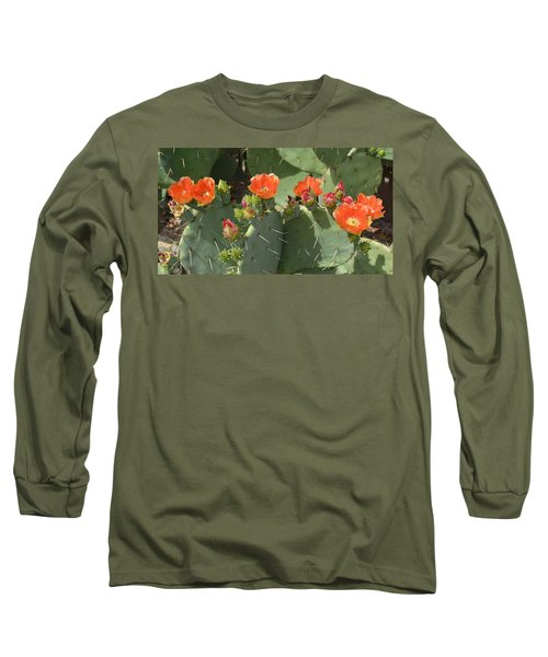 Orange Dream Cactus Long Sleeve T-Shirt