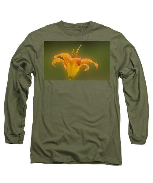 Orange Flower Head  Long Sleeve T-Shirt