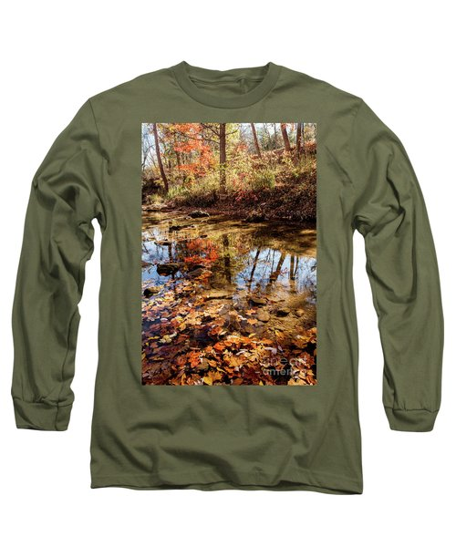 Long Sleeve T-Shirt featuring the photograph Orange Leaves by Iris Greenwell