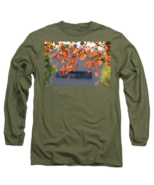 Orange Leaves Of Autumn Long Sleeve T-Shirt by Michele Wilson