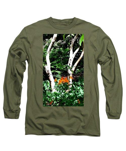 Orange Lilies Long Sleeve T-Shirt