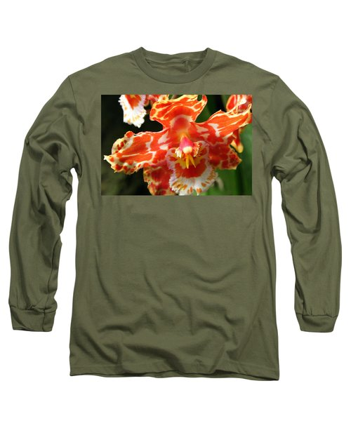 Orange Orchid Long Sleeve T-Shirt