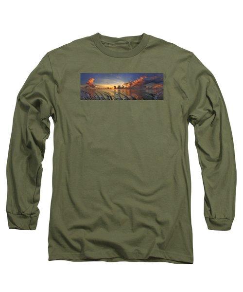 Orange Panorama Long Sleeve T-Shirt