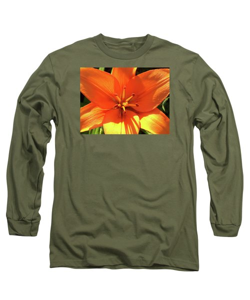 Orange Pop Long Sleeve T-Shirt