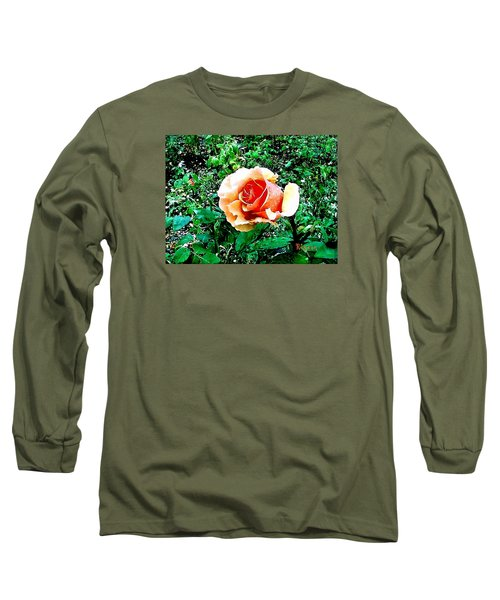 Long Sleeve T-Shirt featuring the photograph Orange Rose by Sadie Reneau