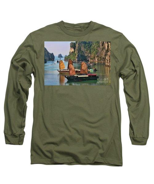 Orange Sails Asian Cruise Vietnam  Long Sleeve T-Shirt