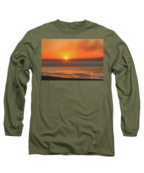 Orange Sunrise On Long Beach Island Long Sleeve T-Shirt