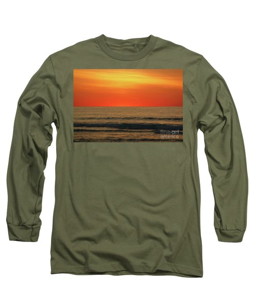 Orange Sunset On The Jersey Shore Long Sleeve T-Shirt