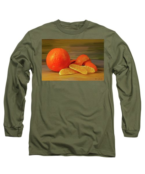 Oranges 01 Long Sleeve T-Shirt by Wally Hampton