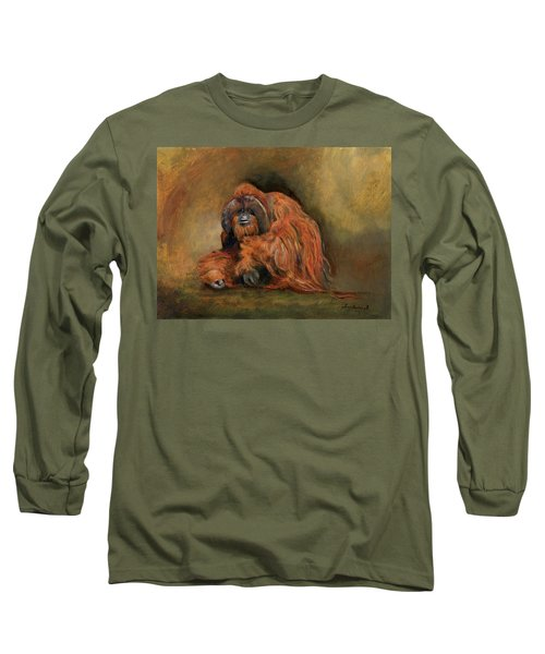 Orangutan Monkey Long Sleeve T-Shirt