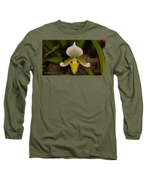 Orchid Flower 42 Long Sleeve T-Shirt by Gary Crockett