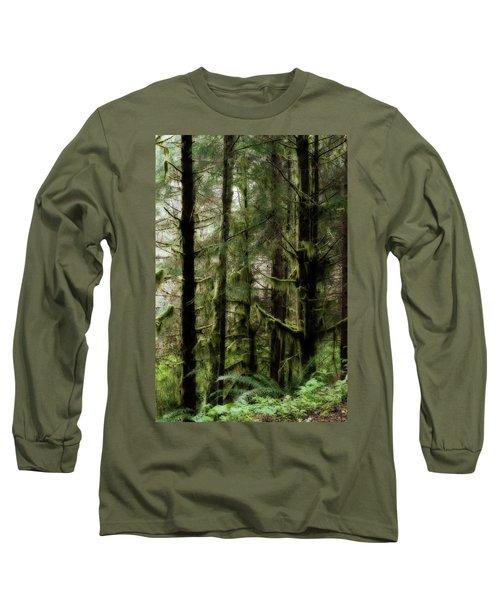 Oregon Old Growth Coastal Forest Long Sleeve T-Shirt