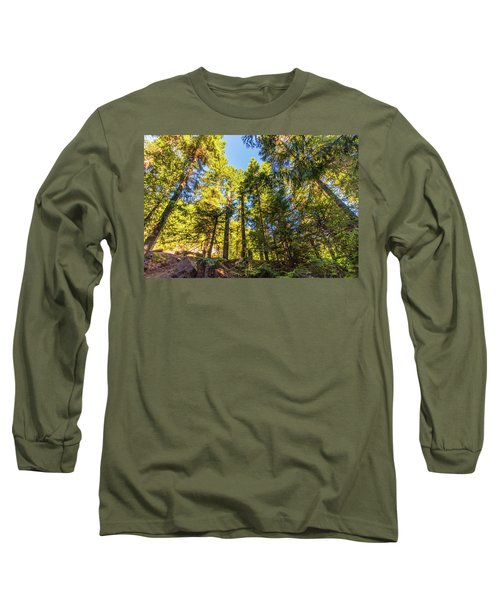 Long Sleeve T-Shirt featuring the photograph Oregon Trees by Jonny D