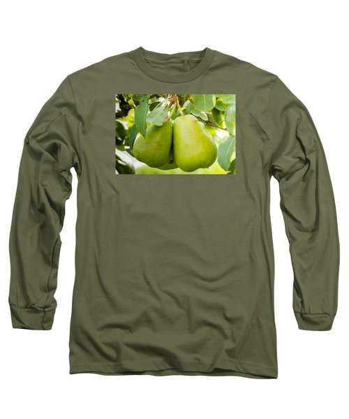 Organic Pears Long Sleeve T-Shirt by Teri Virbickis