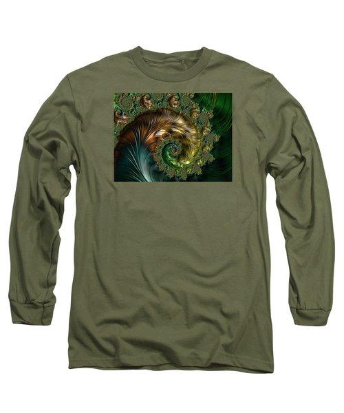 Ornamental Shell Abstract Long Sleeve T-Shirt