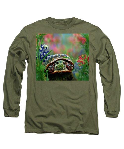 Ornate Box Turtle Long Sleeve T-Shirt