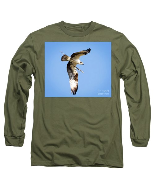 Long Sleeve T-Shirt featuring the photograph Osprey In Flight by Ricky L Jones