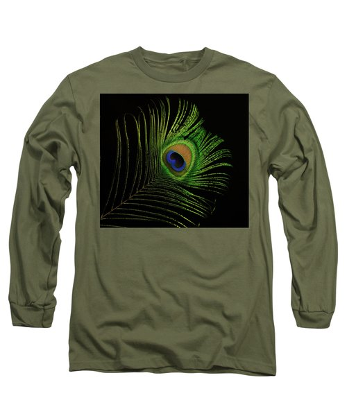 Ostrich Feather Tip Eye Long Sleeve T-Shirt
