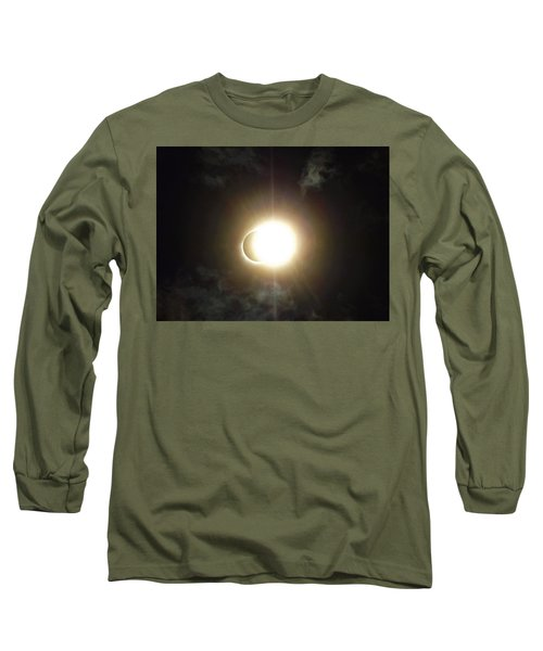 Otherworldly Eclipse-leaving Totality Long Sleeve T-Shirt