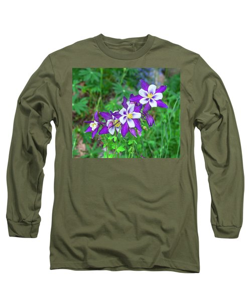 Our Gorgeous State Flower, Colorado Columbine  Long Sleeve T-Shirt