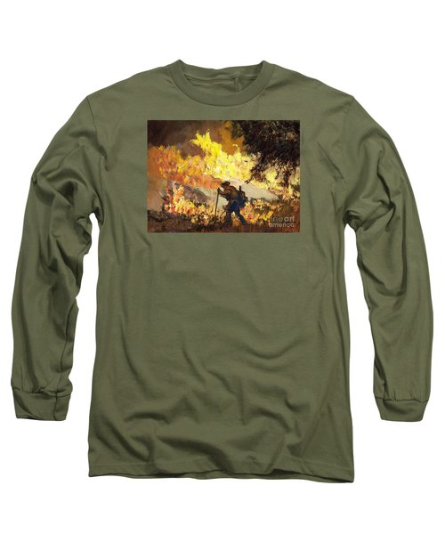 Our Heroes Tonight Long Sleeve T-Shirt by Randy Sprout