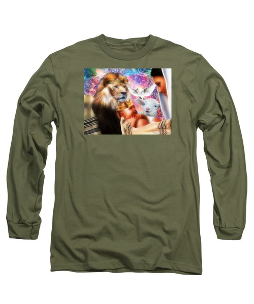Long Sleeve T-Shirt featuring the digital art Our Saviors Birth by Dolores Develde