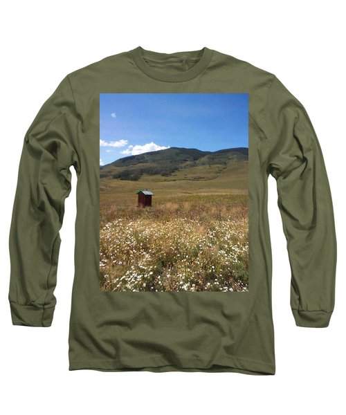 Long Sleeve T-Shirt featuring the photograph Out House by Mary-Lee Sanders