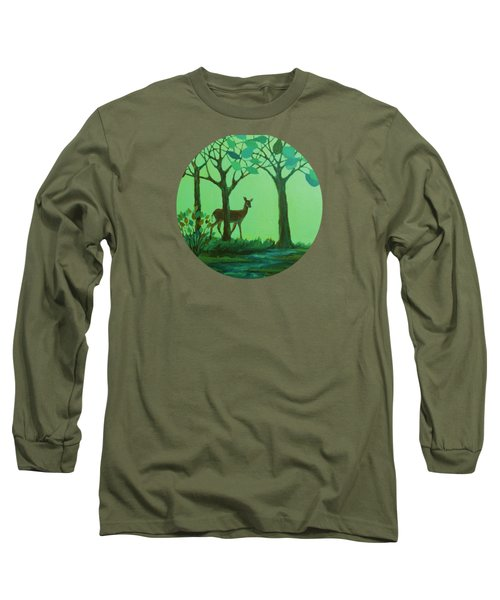 Out Of The Forest Long Sleeve T-Shirt by Mary Wolf