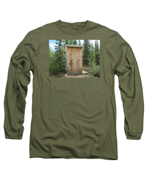 Outhouse  Long Sleeve T-Shirt by Lucinda VanVleck