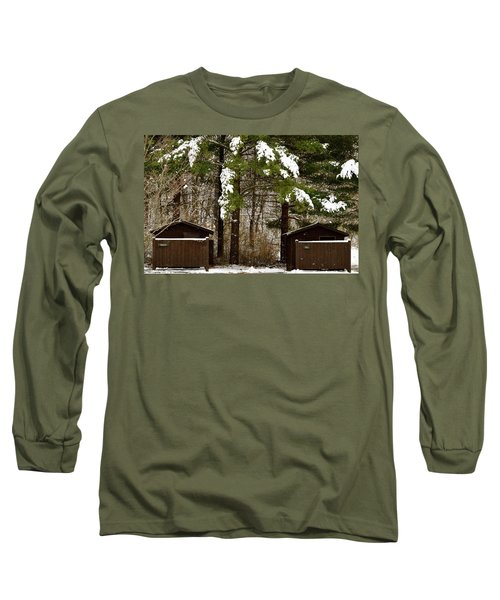 Outhouses In The Cold Long Sleeve T-Shirt