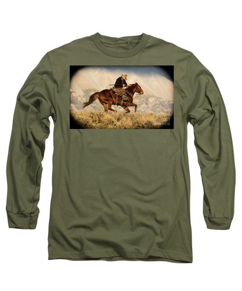 Outlaw Kelly Western Art By Kaylyn Franks Long Sleeve T-Shirt