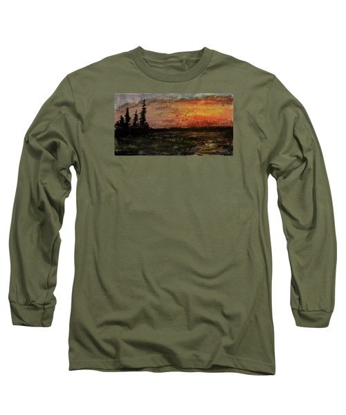 Over Nowhere North Long Sleeve T-Shirt by R Kyllo