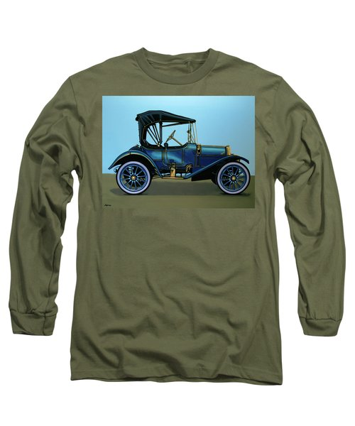 Overland 1911 Painting Long Sleeve T-Shirt by Paul Meijering