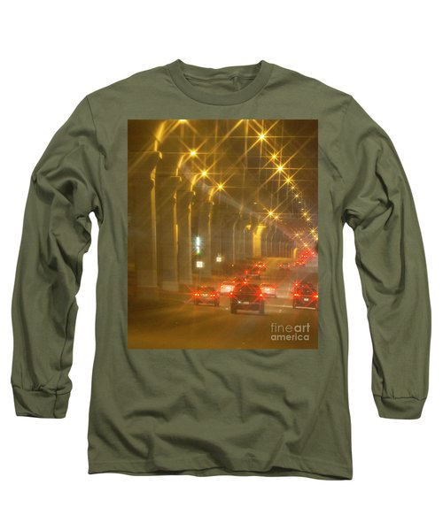 Long Sleeve T-Shirt featuring the photograph Overpass Traffic by Linda Phelps