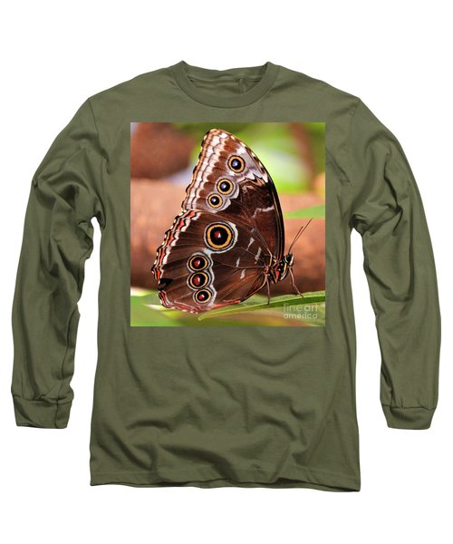 Owl Butterfly Portrait Long Sleeve T-Shirt