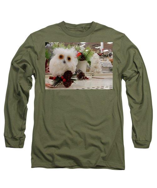 Owl On The Shelf Long Sleeve T-Shirt