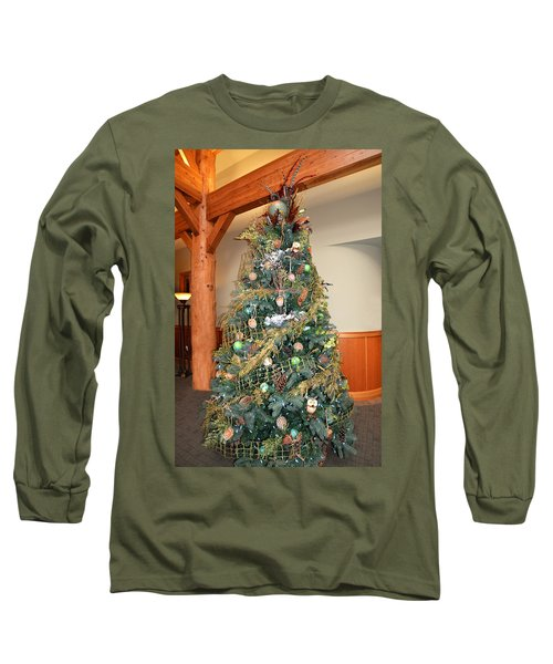 Owl Xmas Tree Long Sleeve T-Shirt