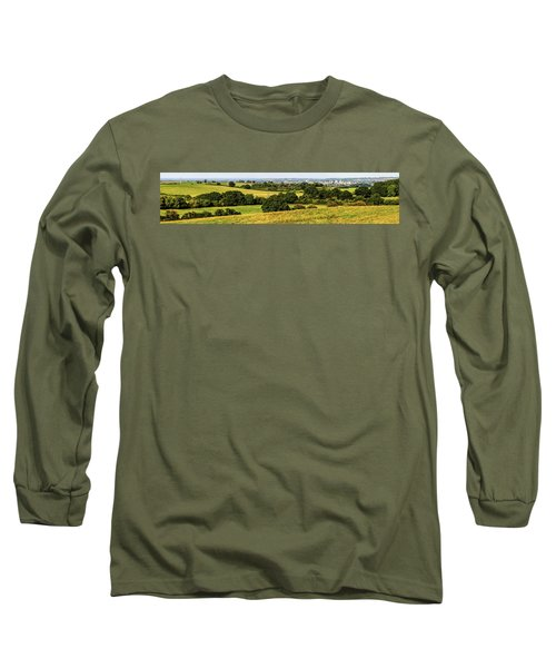 Oxford Spires And Countrysidepanorama Long Sleeve T-Shirt by Ken Brannen