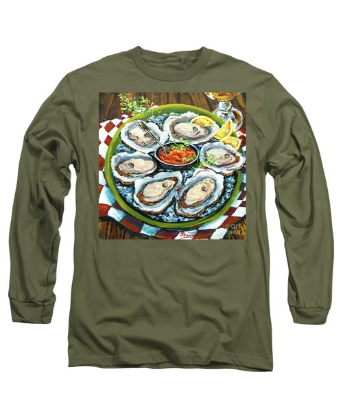 Oysters On The Half Shell Long Sleeve T-Shirt