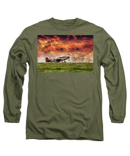 P51 Warbird Long Sleeve T-Shirt