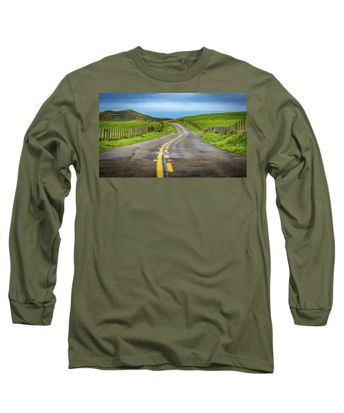 Pacific Coast Road To Tomales Bay Long Sleeve T-Shirt