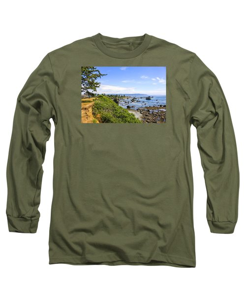 Pacific Coastline In California Long Sleeve T-Shirt by Chris Smith
