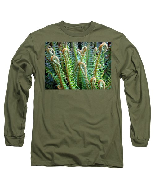 Long Sleeve T-Shirt featuring the photograph Pacific Ferns by Martin Konopacki
