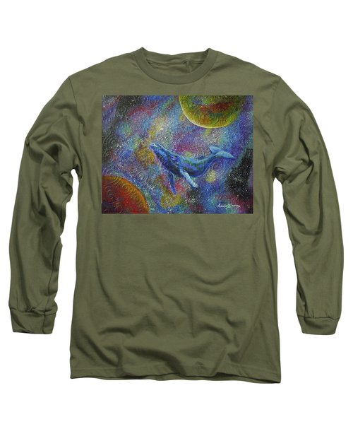 Pacific Whale In Space Long Sleeve T-Shirt