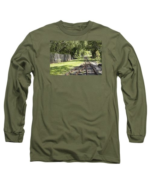 Long Sleeve T-Shirt featuring the photograph Padarn Lake Railway by Christopher Rowlands