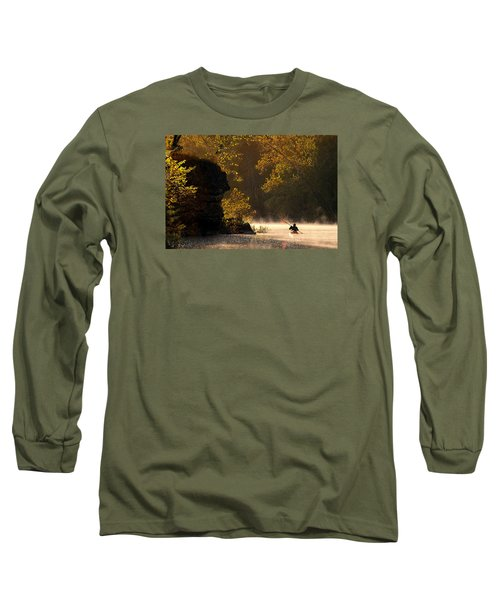 Paddling In Autumn Long Sleeve T-Shirt by Robert Charity