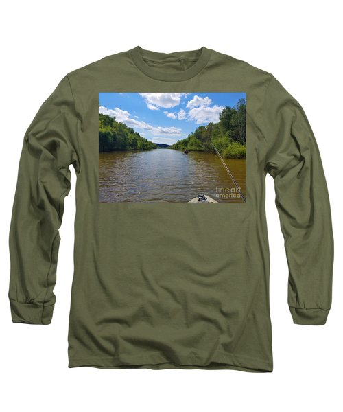 Paddling Up Crooked Creek Long Sleeve T-Shirt